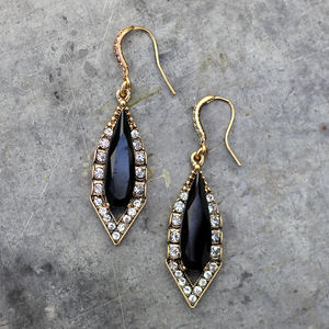 Vintage Style Diamond Drop Earrings - earrings