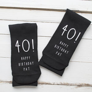 Personalised Happy Birthday Monochrome Socks
