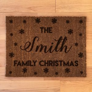 Personalised Family Christmas Doormat - rugs & doormats