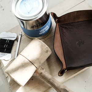 Diy Leather Desk Tray Kit - father's day gifts