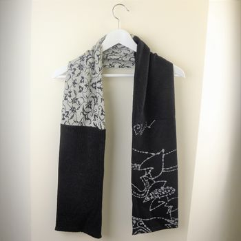 Women's Mixed And Patterned Fabric Scarves