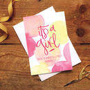 New Baby Card 'It's A Girl!'