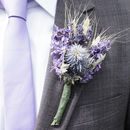Three Blue Wheat Buttonholes