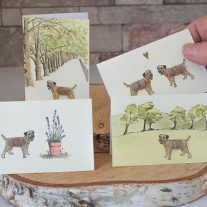 Boxed Collection Of Border Terrier Gift Cards - notelets