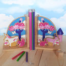 Fair Trade Enchanted Forest Unicorn Bookend Set