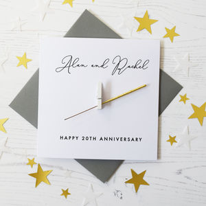 Personalised Anniversary Sparkler Card