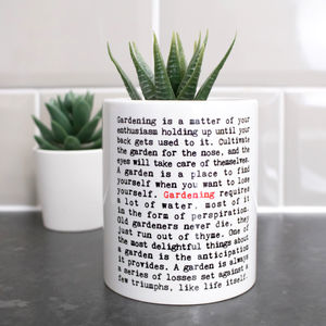 Gardening Quotes Plant Pot Gift For Gardeners