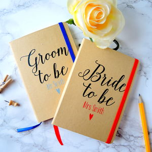 Personalised Bride And Groom Wedding Planner Notebooks - wedding wedmin