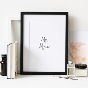 Mr Mrs Artprint