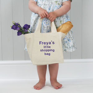 Personalised Child's Mini Cotton Tote Bag