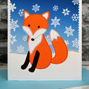 'Fox' childrens personalised Christmas Card by Jenny Arnott Cards and Gifts