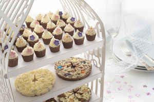 Mini Chocolate Cupcake Wedding Favours X 12