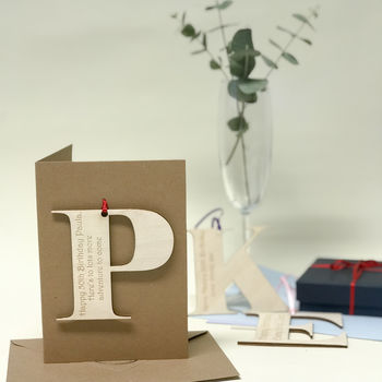 Personalised Initial Letter Birthday Cards