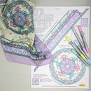 Dinosaur Print Silk Scarf Colouring Kit
