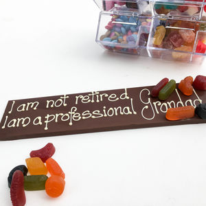 Personalised I Am Not Retired - chocolates