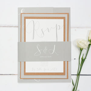Grey Elegance Wedding Stationery Sample Pack - invitations