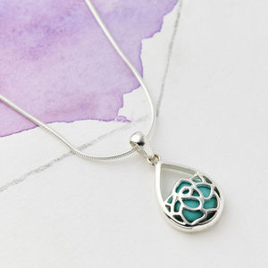 Lotus Flower Silver Necklace - necklaces & pendants