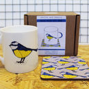 Blue Tit Bird Mug And Coaster New Home Or Job Gift Set