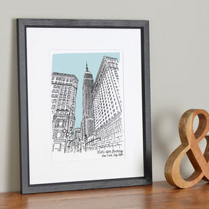 Personalised Favourite Place Illustration - valentine's gifts for her