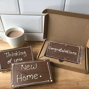 Message Millionaire Shortbread Card - biscuits and cookies