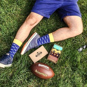 Men's Socks Blue Fish