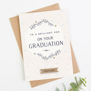 Son Graduation Card Personalised