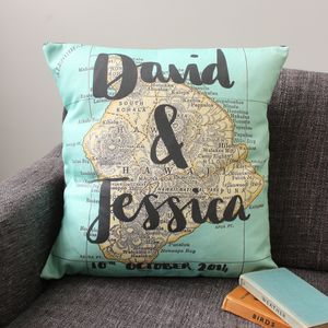 Personalised Couple Names Map Cushion - what's new