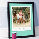 Giant Retro Style Personalised Photo Print Unframed