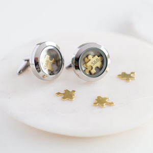 'I Love You To Pieces' Cufflinks - personalised