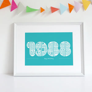Personalised 30th Birthday Print - posters & prints