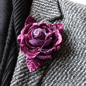 Mauve Rose Corsage Pin - pins & brooches