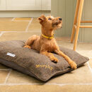 Personalised Tweed Pillow Dog Beds