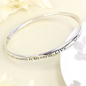 Live As Though Heaven Is On Earth Bangle - bracelets & bangles
