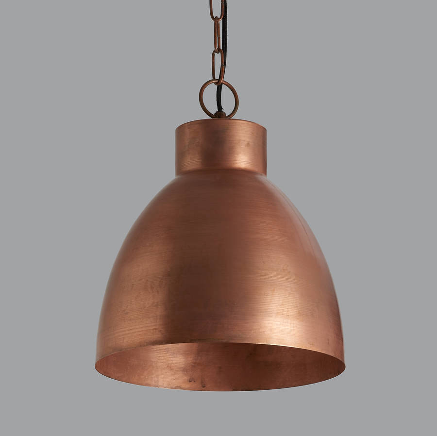 Lava copper pendant light by horsfall wright notonthehighstreet lava copper pendant light mozeypictures Choice Image