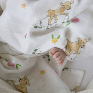 Bamboo Baby Swaddle Cow Blanket