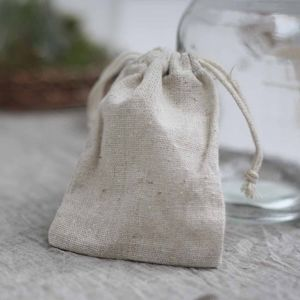 Natural Linen Wedding Favour Bag
