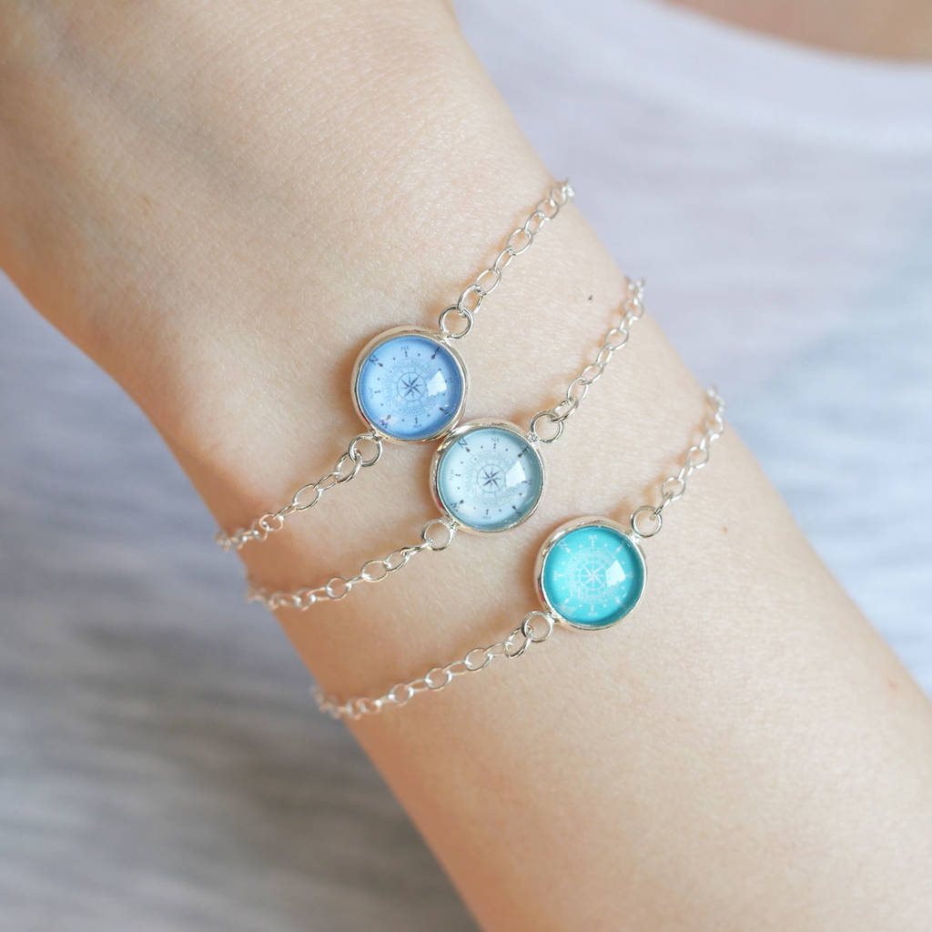 compass jewelz products by angie charm silver bracelet