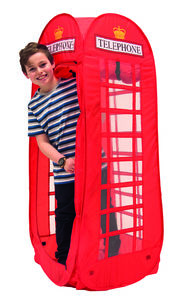 Telephone Box Pop Up Play Tent - outdoor toys & games