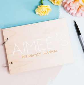 Personalised Modern Pregnancy Journal Book - gifts for mums-to-be