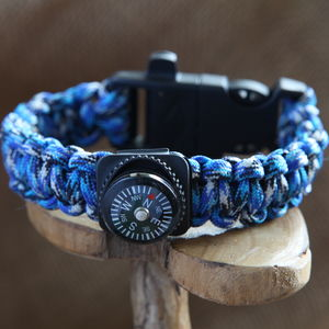 Survival Bracelet With Compass - bracelets