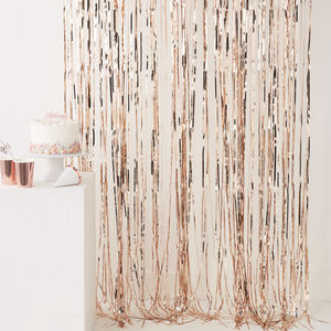 Rose Gold Fringe Curtain Decoration