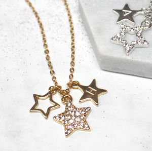 Personalised Diamante Star Necklace