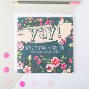 'Yay!' Congratulations Card - blank cards