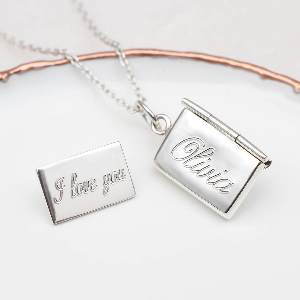 09e908b04 personalised sterling silver secret letter necklace by hurleyburley ...