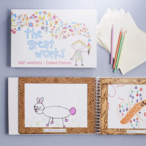 Children's Artwork Holder Book - keepsakes