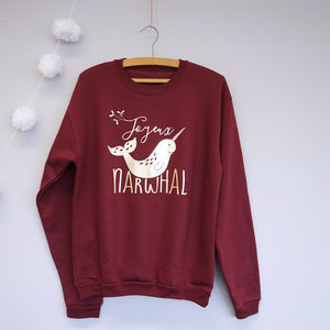 Joyeux Narwhal Christmas Jumper - jumpers & cardigans