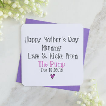 Happy Mother's Day From The Bump Personalised Card T