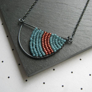 Geometric Silver Semi Circle Necklace - necklaces & pendants