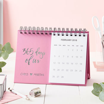 Personalised 'Days Of Us' Desk Calendar