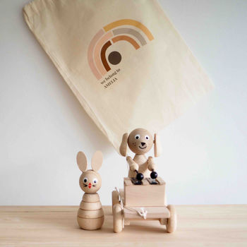 Personalised Toy Bundle With Two Wooden Toys